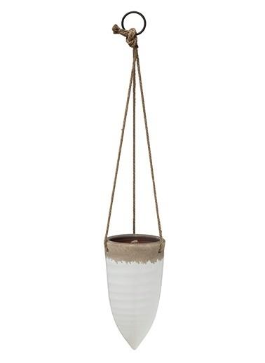 Warm Design Porselen Asma Çiçeklik Beyaz